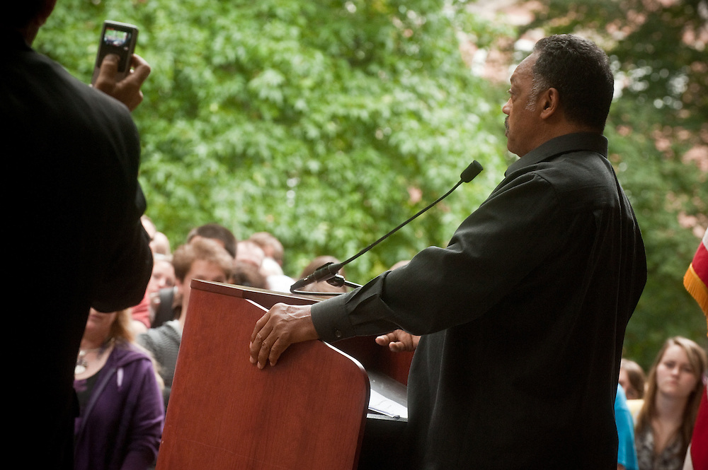 Rev. Jesse Jackson speaking at MemAud
