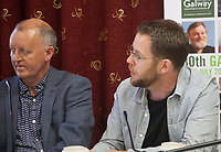 Tom Dowling (Studio Operations Manager, Troy Studios) and Producer Macdara Kelleher (Fastnet Films) at the 'Shaping Film Production in Ireland - the next 10 years' Panel Discussion at the Galway Film Fleadh, Galway Rowing Club, Galway, Ireland. Saturday 14th July 2018