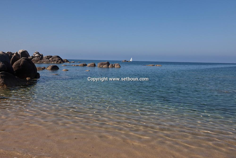 Wild coast and the sea in senetoza near Tizzano Corsica south  France    /  la cote sauvage et la mer  a senetosa pres de Tizzano  Corse du sud  France