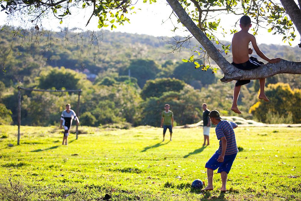 Esmeraldas_MG, Brasil...Campo de futebol comunidade rural da Laginha em Esmeraldas, Minas Gerais...A soccer field in the rural community Laginha in Esmeraldas, Minas Gerais. ..Foto: JOAO MARCOS ROSA / NITRO