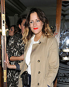 03.MAY.2012. LONDON<br /> <br /> TV PRESENTER CAROLINE FLACK LEAVING THE GROUCHO CLUB IN SOHO, LONDON<br /> <br /> BYLINE: EDBIMAGEARCHIVE.COM<br /> <br /> *THIS IMAGE IS STRICTLY FOR UK NEWSPAPERS AND MAGAZINES ONLY*<br /> *FOR WORLD WIDE SALES AND WEB USE PLEASE CONTACT EDBIMAGEARCHIVE - 0208 954 5968*