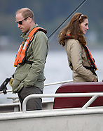 Kate Middleton & Prince William Fish, Haida Gwaii