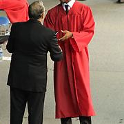 06/06/13 Newark DE:  William Penn High School student Kanez M. Dale receives his diploma during commencements exercises Thursday, June 6. 2013, at The Bob Carpenter Center in Newark Delaware.