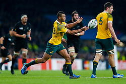 Australia replacement Kurtley Beale passes - Mandatory byline: Rogan Thomson/JMP - 07966 386802 - 31/10/2015 - RUGBY UNION - Twickenham Stadium - London, England - New Zealand v Australia - Rugby World Cup 2015 FINAL.