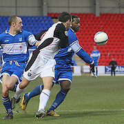 Willie McLaren and Jason Scotland in action for St Johnstone in the Scottish First Division match against Gretna on 27th January 2007. McDiarmid Park Perth