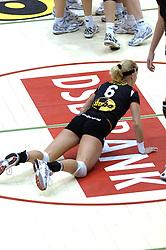 04-03-2006 VOLLEYBAL: FINAL 4 DAMES: AMVJ - PLANTINA LONGA: ROTTERDAM<br /> Longa was veel te sterk voor de dames uit Amstelveen (3-0) / Mered de Vries<br /> Copyrights 2006 WWW.FOTOHOOGENDOORN.NL