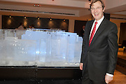 ROBERT BROOKS;- ICE-SCULPTURE, Bonhams Auction house hosts festive drinks to preview the first phase of the reconstruction of its Mayfair Headquarters - due for completion in 2013.<br /> Bonhams, 101 New Bond Street, London, 19 December 2011.