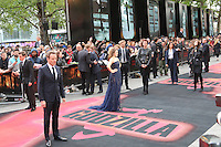 Bryan Cranston; Elizabeth Olsen, Godzilla - European Film Premiere, Odeon Leicester Square, London UK, 11 may 2014, Photo by Richard Goldschmidt
