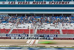 Mar 9, 2012; Las Vegas, NV, USA;  Nationwide Series driver Danica Patrick (7) crosses the start finish line during practice for the Sam's Town 300 at Las Vegas Motor Speedway. Mandatory Credit: Jason O. Watson-US PRESSWIRE