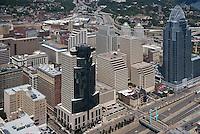 Downtown Cincinnati Ohio Aerial Skyline