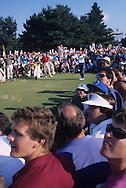 Nick Faldo Curtis Strange US Open 1988 <br /> Picture Credit:  Mark Newcombe / visionsingolf.com