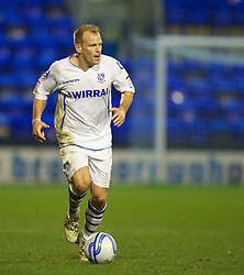 BIRKENHEAD, ENGLAND - Tuesday, March 6, 2012: Tranmere Rovers' Andy Robinson in action against Notts County during the Football League One match at Prenton Park. (Pic by David Rawcliffe/Propaganda)