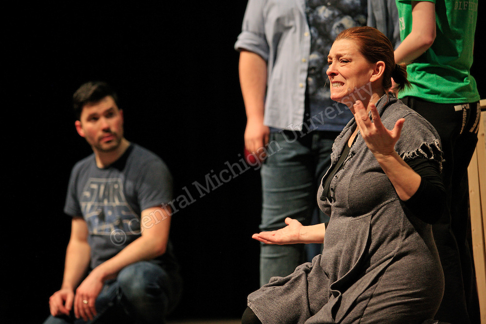 American Sign Language Theatre Rehearsal in Busch Theatre photo by Claire Abendroth