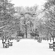The first snow storm of December 2017 offered some beautiful sights in Princeton Battle Monument.