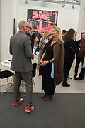 CARL FREEDMAN, IWONA BLAZWICK, Frieze opening day. Regent's Park. London. 2 October 2019