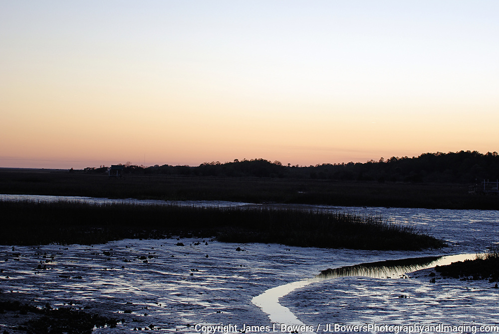 Sunset at Low Tide Awendaw-SC