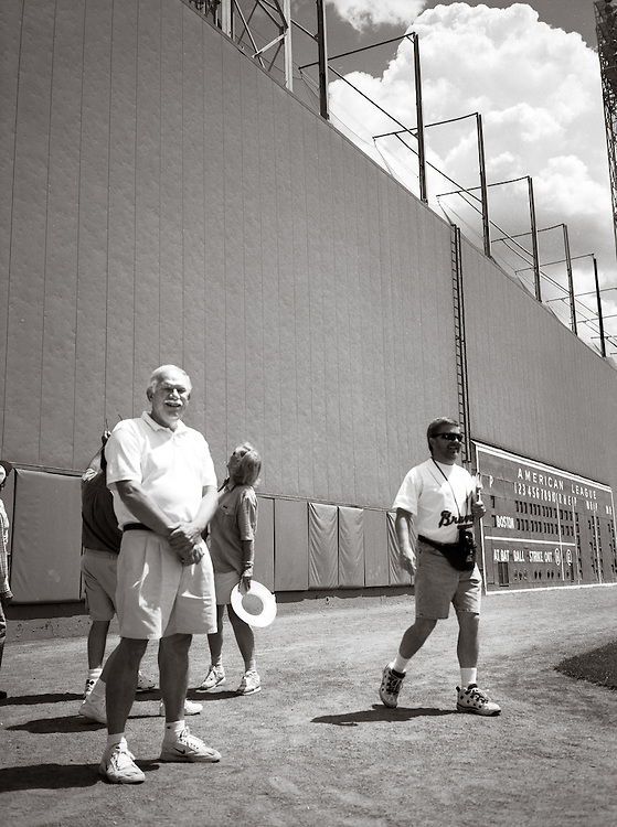 Dad in front of the Big Green Wall at Fenway Park | June 2000