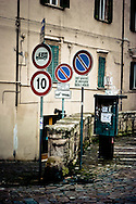 Parking sings in Jesi.