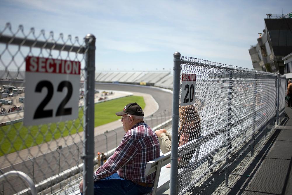 Race fan at Rockingham Speedway.