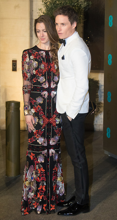 Photo Must Be Credited ©Alpha Press<br /> Hannah Bagshawe and Eddie Redmayne  arrives at the EE British Academy Film Awards after party dinner at the Grosvenor House Hotel in London.