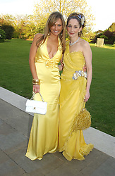 Left to right, ADELA KING and DANIA MIRJAN at 'Horticouture' a charity fashion show to raise funds for Tommy's, the baby charity and The Royal Botanic Gardens, Kew held at Kew on 12th May 2005.<br /><br />NON EXCLUSIVE - WORLD RIGHTS