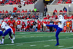 NORMAL, IL - September 07: Andrew Foster during a college football game between the ISU (Illinois State University) Redbirds and the Morehead State Eagles on September 07 2019 at Hancock Stadium in Normal, IL. (Photo by Alan Look)