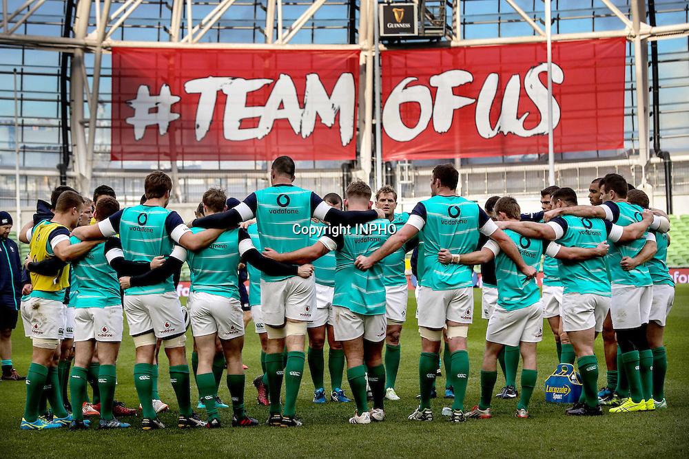 Ireland Rugby Captain's Run, Aviva Stadium, Dublin 18/11/2016<br /> The Ireland team huddle<br /> Mandatory Credit &copy;INPHO/Billy Stickland