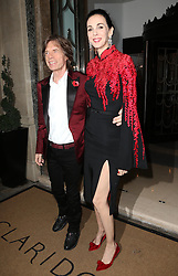 Mick Jagger and L'Wren Scott  arriving at the Harper's Bazaar Women of the Year Awards in London, Tuesday, 5th November 2013. Picture by Stephen Lock / i-Images<br />