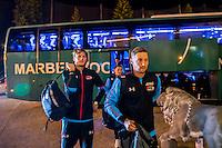 BENAHAVIS - 02-01-2017, Trainingskamp, AZ, AZ speler Wout Weghorst, AZ speler Rens van Eijden