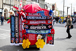 Scarves and merchandise for sale<br /> <br /> Photographer Simon King/Replay Images<br /> <br /> Guinness PRO14 Round 21 - Dragons v Scarlets - Saturday 27th April 2019 - Principality Stadium - Cardiff<br /> <br /> World Copyright © Replay Images . All rights reserved. info@replayimages.co.uk - http://replayimages.co.uk