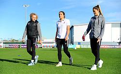 Bristol City Women inspect the pitch prior to kick-off - Mandatory by-line: Nizaam Jones/JMP - 27/10/2019 - FOOTBALL - Stoke Gifford Stadium - Bristol, England - Bristol City Women v Tottenham Hotspur Women - Barclays FA Women's Super League