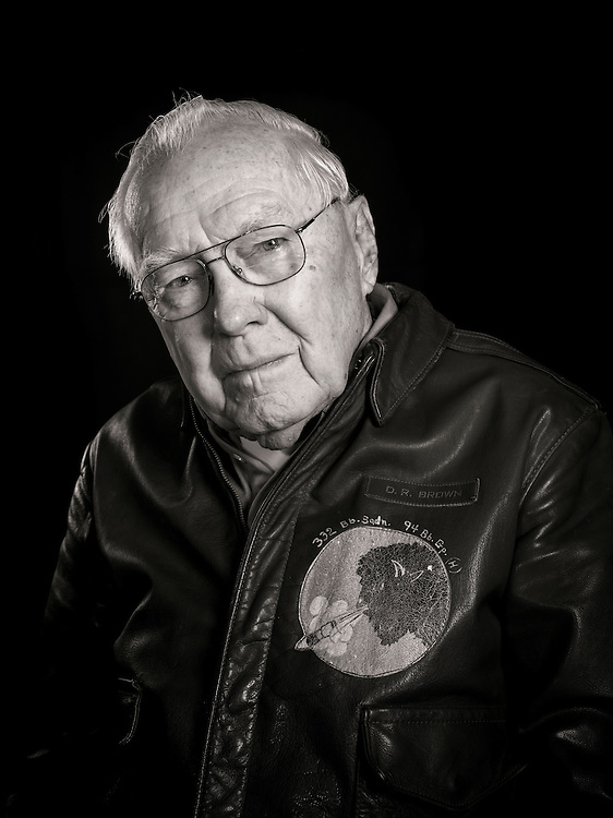 "D.R. ""Duke"" Brown was a B-17 flight engineer and top turret gunner, completing 33 missions with the 94th Bomb Group.  His crew often launched as an ""airborne spare"", taking the place of other aircraft that dropped out of the formation."