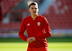 WREXHAM, WALES - Friday, September 6, 2019: Wales' captain Regan Poole during the pre-match warm-up before the UEFA Under-21 Championship Italy 2019 Qualifying Group 9 match between Wales and Belgium at the Racecourse Ground. (Pic by Laura Malkin/Propaganda)