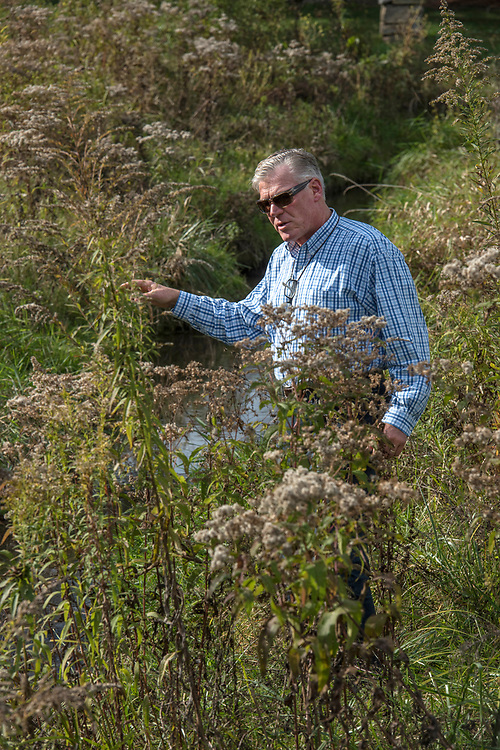 John Dawes, of Foundation for Pennsylvania Watersheds,  at his Huntingdon Farm in Alexandria, PA.