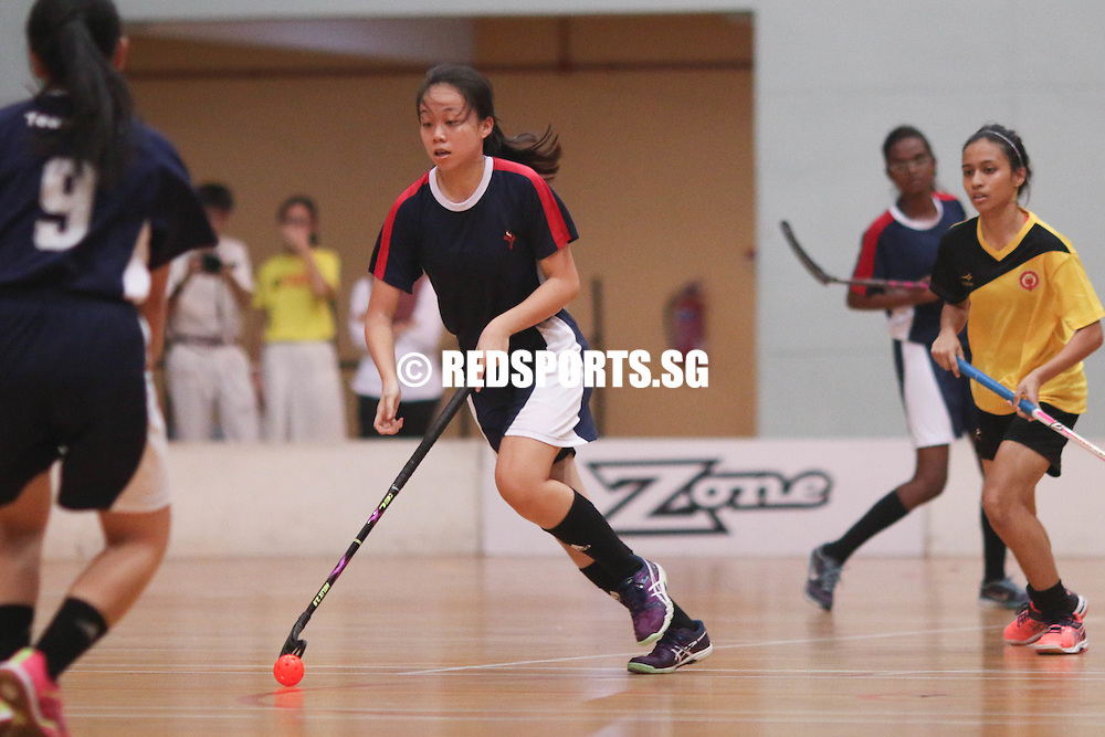 Yishun Sports Hall, Wednesday, May 25, 2016 — Yishun Junior College (YJC) qualified for the National A Division Girls Floorball Championship final for the third time in four years, after they hung on for a 3-2 victory over Victoria Junior College (VJC).