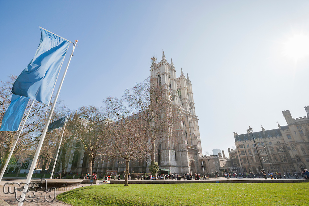 View of Westminster Abbey in London; England; UK