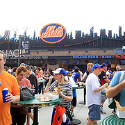 Fast food outlets for baseball fans at Citi Field Stadium during the New York Mets V Washington Nationals Baseball game at Citi Field, Queens, New York. USA. 28th June 2013. Photo Tim Clayton