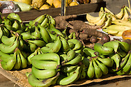Bananas for sale in the market in Castries, St Lucia, The Windward Islands, The Caribbean