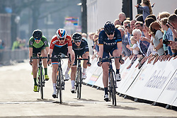 Christine Majerus (LUX) finishes third on the stage at Healthy Ageing Tour 2018 - Stage 5, a 94.3 km road race in Groningen on April 8, 2018. Photo by Sean Robinson/Velofocus.com