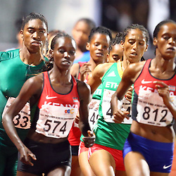 Durban, SOUTH AFRICA, 24,June, 2016 - Caster Semenya of South Africa in the Women 1500m Final during Day 3 The 20th CAA African Senior Athletics Championships will take place at the Kings Park Athletics Stadium in Durban, South Africa from June 22-26, 2016. (Photo by Steve Haag)
