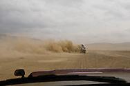 Mongolia . sand storm and dust on the road to LUN   / route de Lun, tempete de sable   - Mongolie