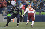 Nov 5, 2017; Seattle, WA, USA; Seattle Seahawks offensive tackle Duane Brown (76) defends against Washington Redskins outside linebacker Ryan Anderson (52) during an NFL football game at CenturyLink Field. The Redskins defeated the Seahawks 17-14.