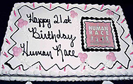The cake for the 21st birthday party of the Human Race Theatre Company in Sinclair's Ponitz Center, Saturday night, April 28th.