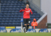 Brighton striker, Bobby Zamora (25) celebrates his goal during the Sky Bet Championship match between Blackburn Rovers and Brighton and Hove Albion at Ewood Park, Blackburn, England on 16 January 2016.