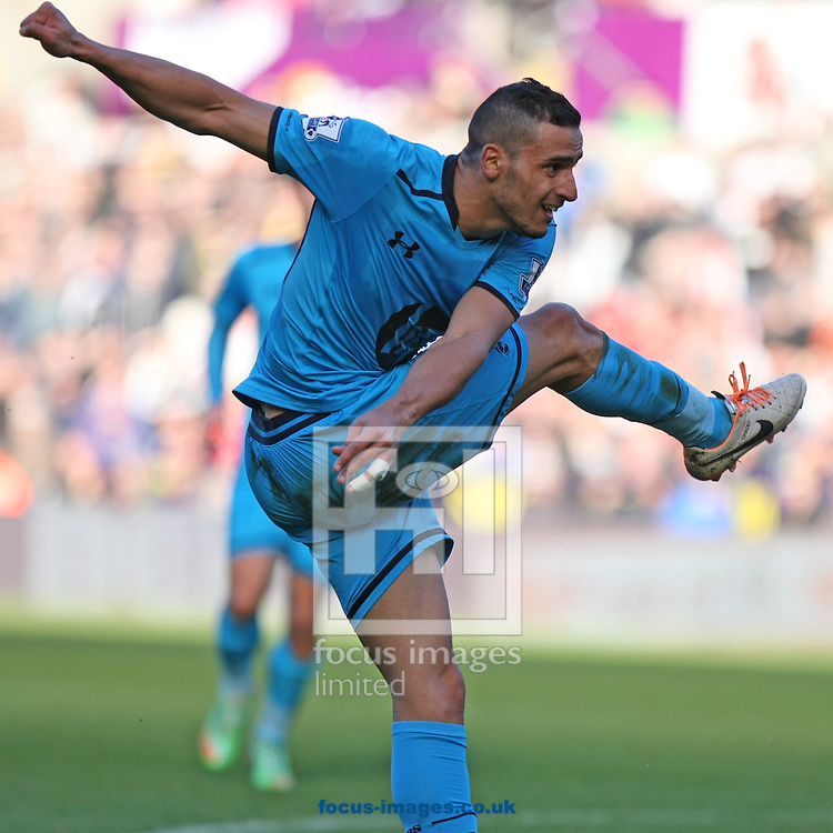 Picture by Mark Hawkins/Focus Images Ltd 07949 023795<br /> 19/01/2014<br /> Nacer Chadli of Tottenham Hotspur during the Barclays Premier League match against Swansea City at the Liberty Stadium, Swansea.