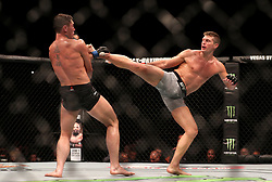 Darren Till (left) in action against Stephen Thompson during UFC Fight Night at the Liverpool Echo Arena.