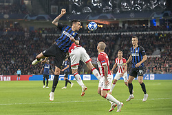 October 4, 2018 - Eindhoven, Netherlands - Matias Vecino of Inter jumps for the ball during the UEFA Champions League Group B match between PSV Eindhoven and FC Internazionale Milano at Philips Stadium in Eindhoven, Holland on October 3, 2018  (Credit Image: © Andrew Surma/NurPhoto/ZUMA Press)