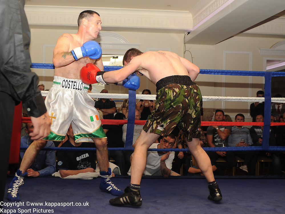 Mick Costello v Andrew Cosnett, Charity White Collar Boxing, Best Western Hotel, Rockingham Road Corby, Saturday 27th September 2014