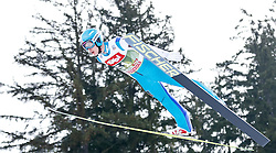 03.01.2015, Bergisel Schanze, Innsbruck, AUT, FIS Ski Sprung Weltcup, 63. Vierschanzentournee, Training, im Bild Vladislav Boyarintsev (RUS) // Vladislav Boyarintsev of Russia in action during Trial Jump of 63 rd Four Hills Tournament of FIS Ski Jumping World Cup at the Bergisel Schanze, Innsbruck, Austria on 2015/01/03. EXPA Pictures © 2015, PhotoCredit: EXPA/ Peter Rinderer