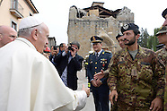 Amatrice: Pope Francis Visits Quake Zone In Italy, 4 October 2016